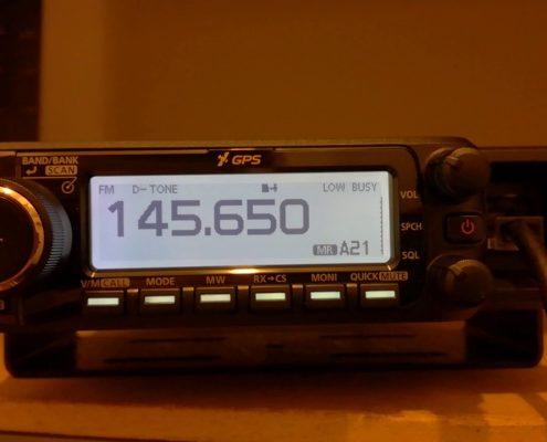 Radio met frequentie van de radioronde